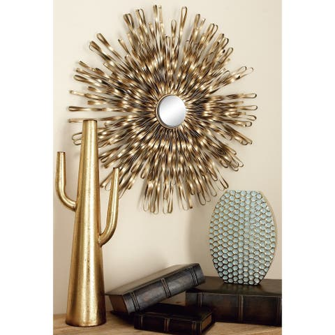 Set of 3 Modern 18, 22, and 27 Inch Starburst Wall Decor by Studio 350 - Gold