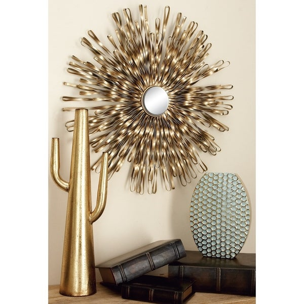 Set of 3 Modern 18, 22, and 27 Inch Starburst Wall Decor by Studio 350 - Gold. Opens flyout.