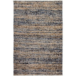 Fab Habitat Indo Estate Woolworth Multi Blue PET Area Rug