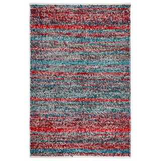 Fab Habitat Indo Estate Woolworth Multi Red PET Area Rug