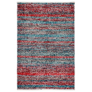 Handmade Fab Habitat Indo Estate Woolworth Multi Red PET Area Rug (India)