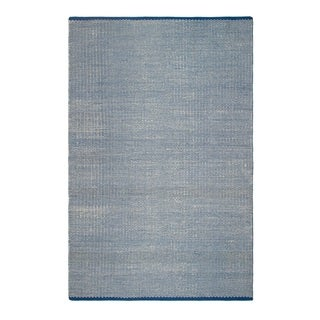 Fab Habitat Indo Estate Ranikot Blue PET Area Rug (2' x 3')