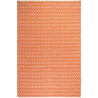 Fab Habitat Indo Estate Lyndhurst Orange PET Area Rug
