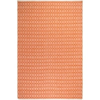 Fab Habitat, Indoor/Outdoor Floor Rug Estate Lyndhurst Orange PET Area Rug (India)