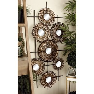 48667 Gorgeous Metal Mirror Wall Decor