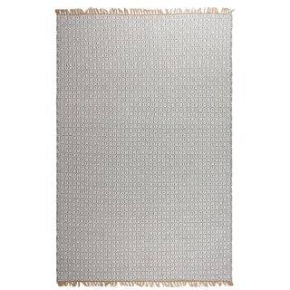 Handmade Fab Habitat Indo Estate Lancut Grey PET Area Rug (India) (Option: 7' X 10')