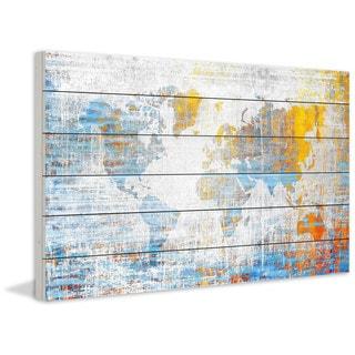 Parvez Taj - Continental Journey Print on White Wood