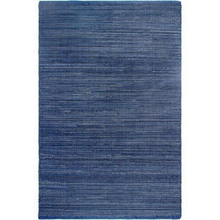Handmade Fab Habitat Indo Estate Kismet Indigo Reclaimed Rubber Area Rug (India) (Option: 7' X 10')