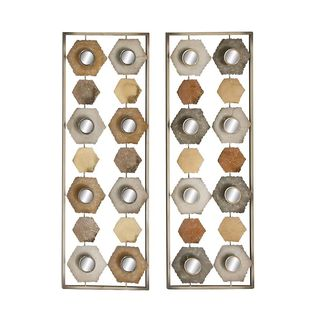 Exceptional Metal Mirror Wall Panel 2 Assorted