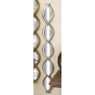Outstanding Metal Wood Mirror Gold Wall Decor
