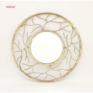 Modish Round Metal Wall Mirror