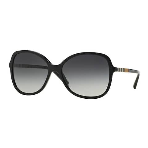 Burberry Women's BE4197 30018G Black Plastic Butterfly Sunglasses