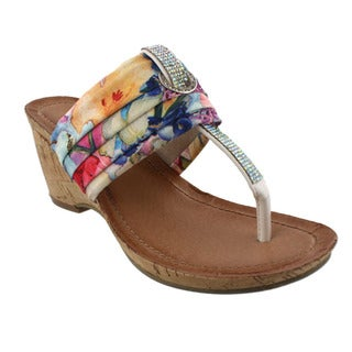 Beston DB75 Platform T-strap Sandals