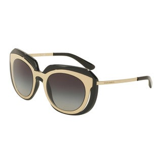 D&G Women's DG6104 501/8G Gold Plastic Irregular Sunglasses