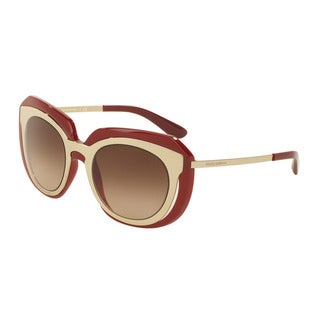 D&G Women's DG6104 304413 Gold Plastic Irregular Sunglasses
