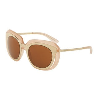 D&G Women's DG6104 304173 Gold Plastic Irregular Sunglasses