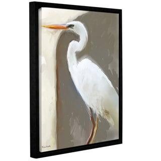 Rick Novak's 'Egret01' Gallery Wrapped Floater-framed Canvas