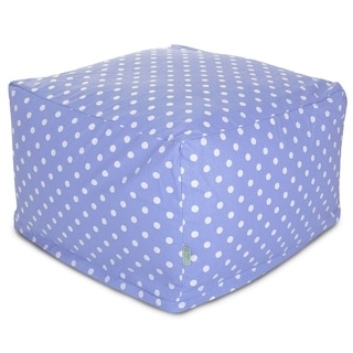 Majestic Home Goods Lavender Polka Dots Ottoman