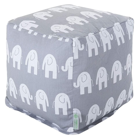 Majestic Home Goods Ellie Indoor Ottoman Pouf Cube
