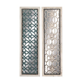 Attractive Styled Wood Mirror Panel 2 Assorted
