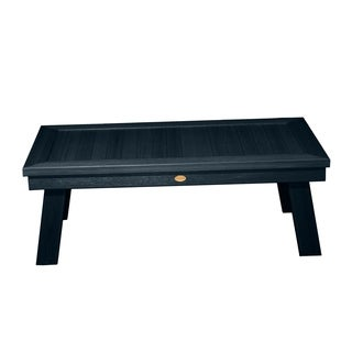 Highwood Eco-friendly Synthetic Wood Adirondack Rectangular Coffee Table