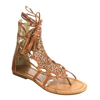 Beston DC21 Lace Up Gladiator Sandals
