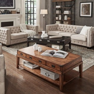 Lonny Wood Storage Accent Campaign Coffee Table by SIGNAL HILLS
