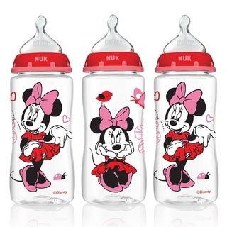Nuk Disney Minnie Mouse Pack Of 3 10-ounce Medium Flow Orthodontic Bottles