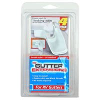 Camco 42123 Gutter Extensions White 4-count
