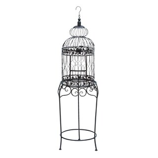 Maison Rouge Lamartine Victorian Style Bird Cage With Wrought Iron