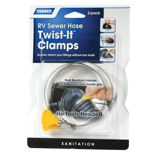 Camco 39553 3-inch Twist-It Clamps