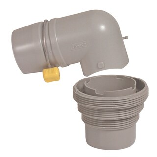 Camco 39144 Easy Slip Sewer Elbow & 4-in-1 Adapter