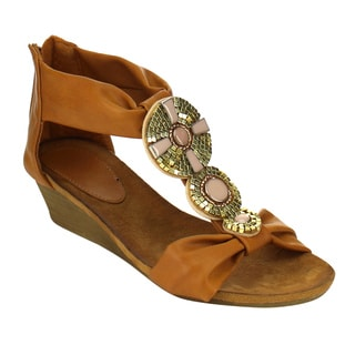 MI.IM HANA T-Strap Mini Wedge Sandals