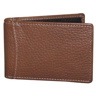 Buxton Leather Hudson Front Pocket Clip Flip Wallet