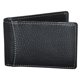 Buxton Leather Hudson Front Pocket Clip Flip Wallet