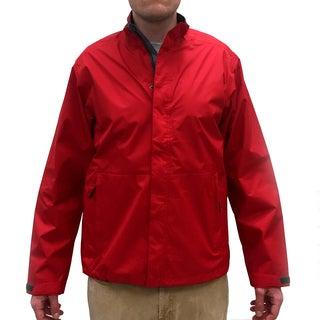 Narragansett Men's Traders Red Nylon Lightweight Waterproof Full Zip Jacket