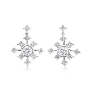 Andrew Charles 14k White Gold 1 3/8ct TDW Earrings (H-I, SI2-I1)