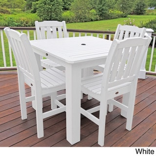 Highwood Eco-friendly Synthetic Wood Lehigh 5-piece Square Counter-height Dining Set