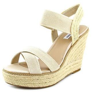 Steve Madden Women's Eira Tan Fabric Sandals
