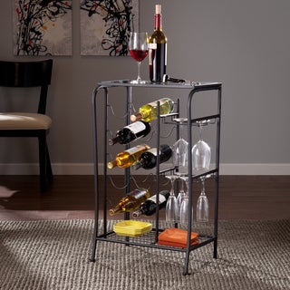 Harper Blvd Marlena Black Wine Rack Storage Table