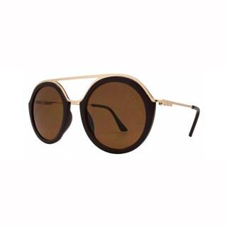 Epic Eyewear Classy Double Bridge Round Frame UV400 Sunglasses