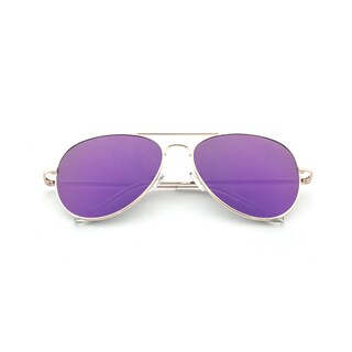Epic Eyewear Pure Flat Flash Lens Aviator UV400 Sunglasses