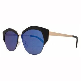 EPIC EYEWEAR Men's Geo Frame Horned Rim UV400 Sunglasses