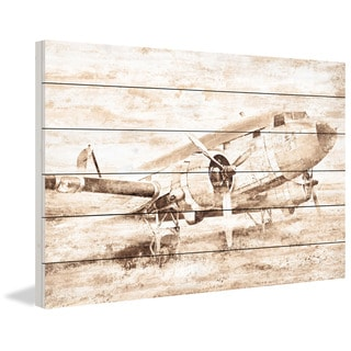 Marmont Hill - Plane at Rest Painting Print on White Wood