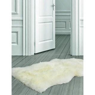 ecarpetgallery Handmade Ivory Sheepskin Wool Rug (2' x 3')