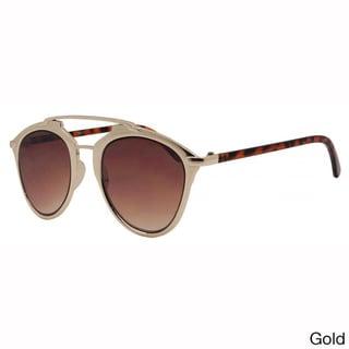Epic Eyewear Dapper Metal Frame Horned Rimmed Sunglasses UV400