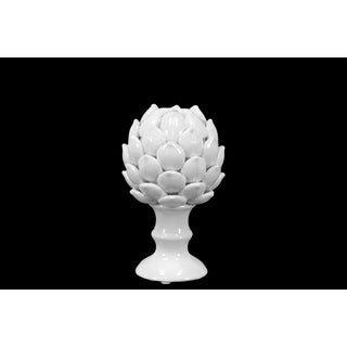 Majestic Porcelain Artichoke In White Finish (Small)