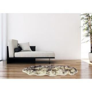 eCarpetGallery Handmade Sheepskin Grey Wool Rug (2' x 6')