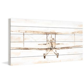 Marmont Hill - Bi-Plane Painting Print on White Wood