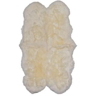 ecarpetgallery Handmade Ivory Sheepskin Wool Rug (3'6 x 6')
